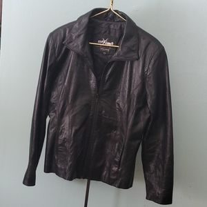 MAXIMA leather jacket size L